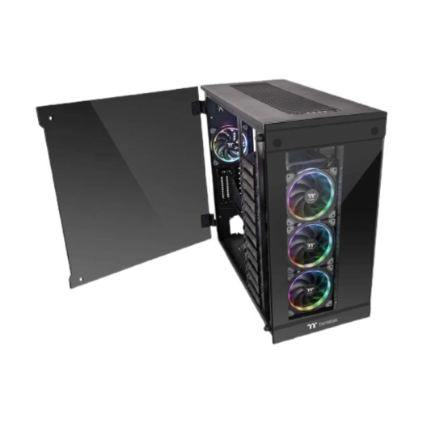 Thermaltake View 91 Tempered Glass RGB Edition 3x Tempered Glass Side Window Super Tower Black