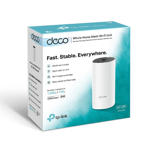 TP-Link Deco M4 1-pack AC1200 Whole Home Mesh Wi-Fi System