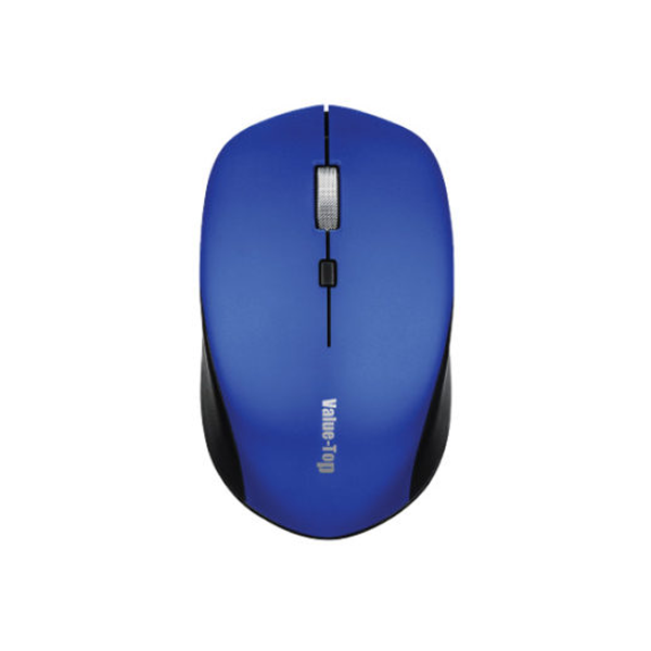Value-Top VT-300W Metallic Scroll Wireless Optical Mouse with Battery