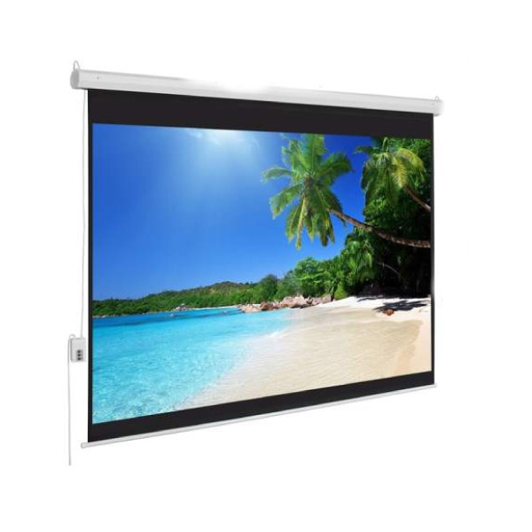 Apollo 96 Inch x 96 Inch Wall Mount Electronic Projector Screen