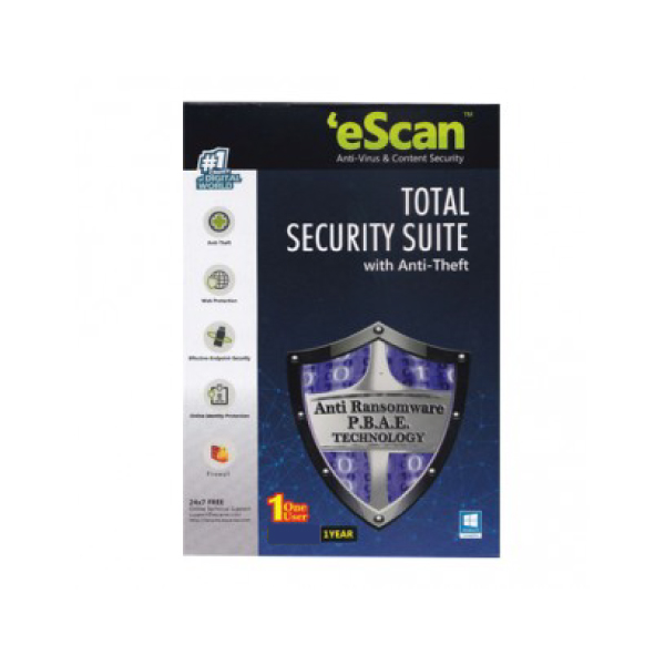 E-Scan Total Security 1 user 1 year subscription