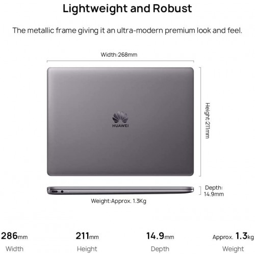 Huawei MateBook 13 Core i5 10th Gen 512GB SSD MX250 2GB Graphics 13 Inch 2K Touch Laptop